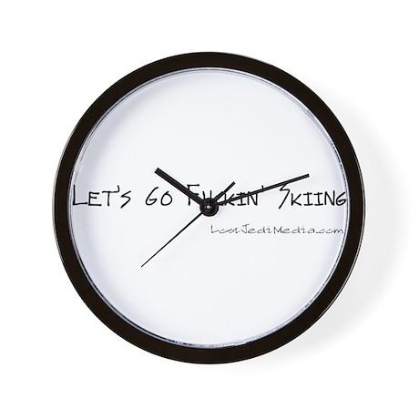 Skiing Wall Clock