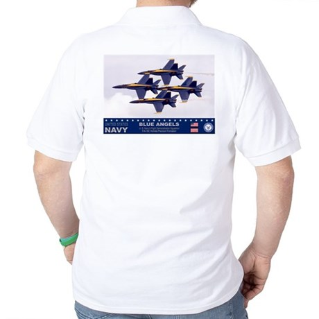 Blue Angel's F-18 Hornet Golf Shirt