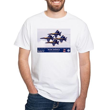 Blue Angel's F-18 Hornet White T-Shirt