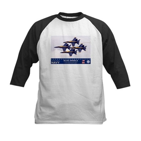 Blue Angel's F-18 Hornet Kids Baseball Jersey