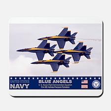 Blue Angel's F-18 Hornet Mousepad