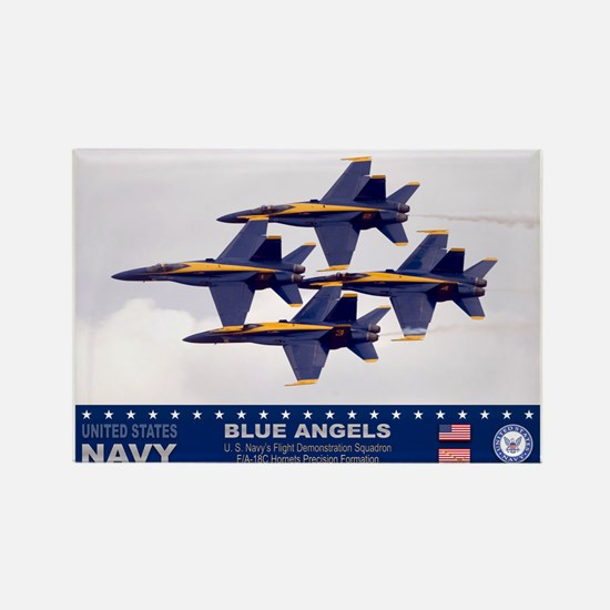 Blue Angel's F-18 Hornet Rectangle Magnet