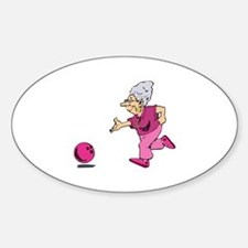 Bowling granny Oval Decal