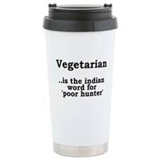 VEGETARIAN HUNTER Travel Coffee Mug