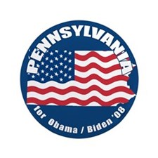 """Pennsylvania for Obama 3.5"""" Button (100 pack)"""