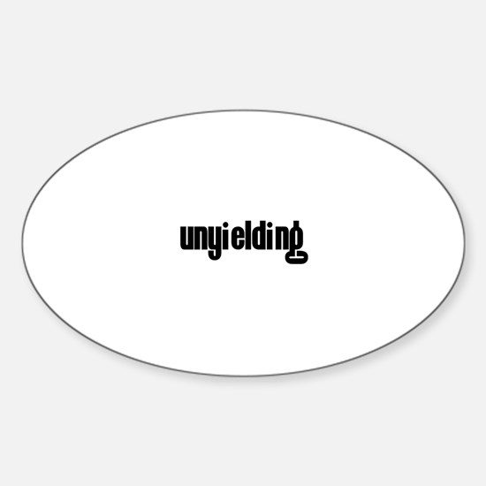 Unyielding Oval Decal