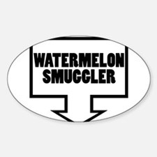 WATERMELON SMUGGLER Oval Decal