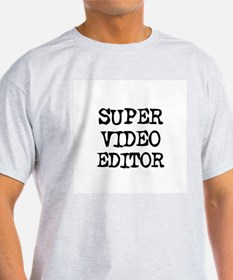 SUPER VIDEO EDITOR Ash Grey T-Shirt