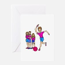 Women's bowling Team Greeting Card