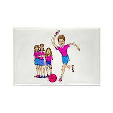 Women's bowling Team Rectangle Magnet