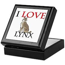 I Love Lynx Keepsake Box