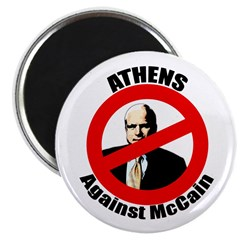 Athens Against McCain Magnet