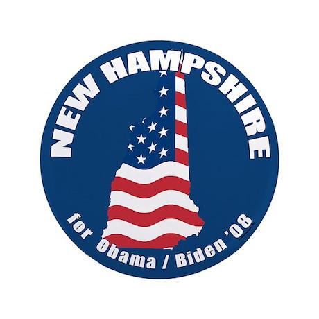 "New Hampshire for Obama 3.5"" Button"