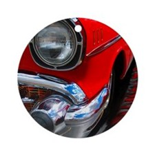 57 chevy bel air Ornament (Round)