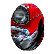 57 chevy bel air Oval Ornament