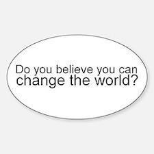 Change the World oval sticker