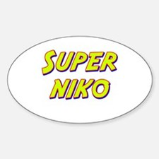 Super niko Oval Decal
