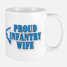 Infantry Wife Mug -cross rifle stipe