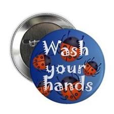 """Infection Control 2.25"""" Button (100 pack)"""