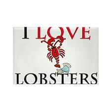 I Love Lobsters Rectangle Magnet