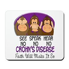 See Speak Hear No Crohn's Disease 1 Mousepad