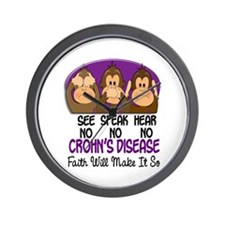 See Speak Hear No Crohn's Disease 1 Wall Clock