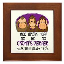 See Speak Hear No Crohn's Disease 1 Framed Tile