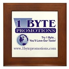 1 Byte Promotions Framed Tile