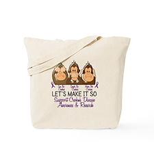 See Speak Hear No Crohn's Disease 2 Tote Bag