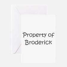 Cute Broderick Greeting Card