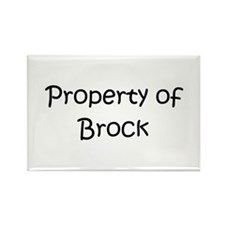 Unique Brock name Rectangle Magnet