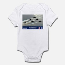 Blue Angel's F-18 Hornet Infant Bodysuit