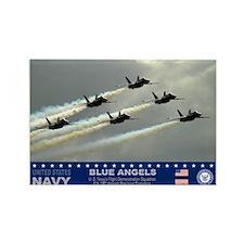 Blue Angel's F-18 Hornet Rectangle Magnet