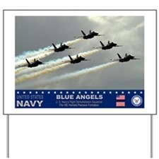 Blue Angel's F-18 Hornet Yard Sign