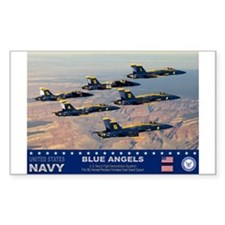 Blue Angel's F-18 Hornet Rectangle Decal