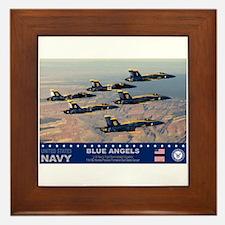 Blue Angel's F-18 Hornet Framed Tile