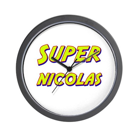 Super nicolas Wall Clock