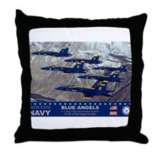Blue Angel's F-18 Hornet Throw Pillow