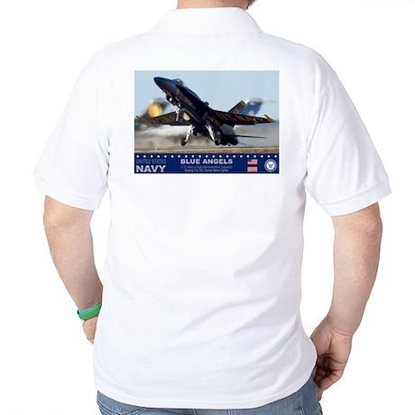 Blue Angel's F-18 Hornet Golf Shirt