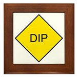 Yellow DIP sign - Framed Tile
