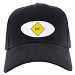 Yellow DIP sign - Black Cap