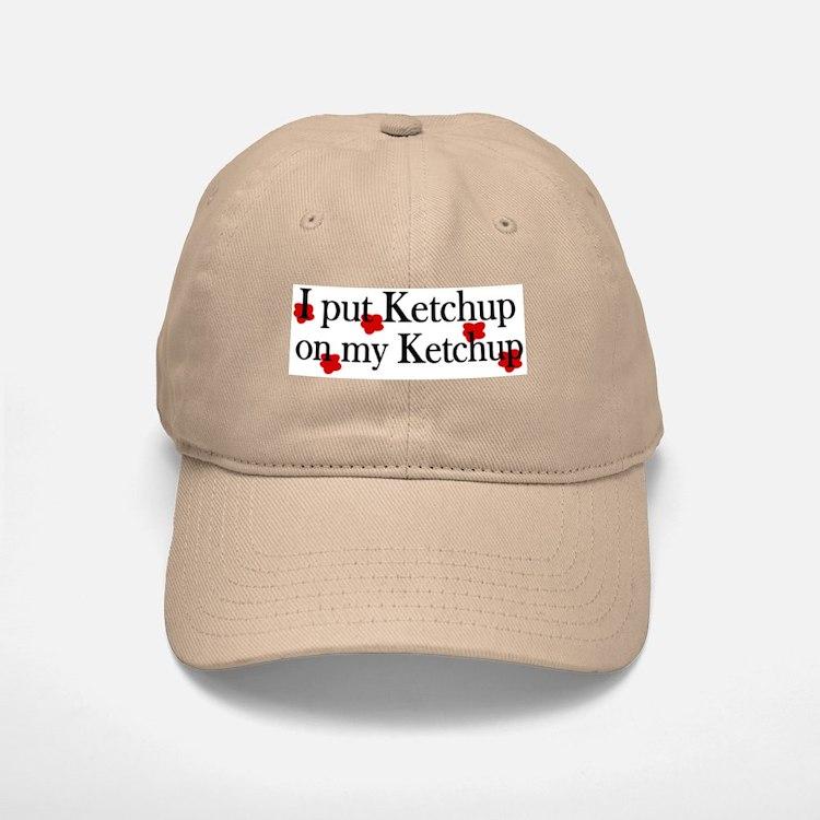Ketchup on Ketchup Baseball Baseball Cap
