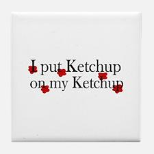Ketchup on Ketchup Tile Coaster