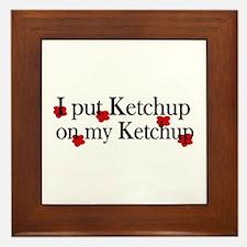 Ketchup on Ketchup Framed Tile