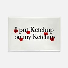 Ketchup on Ketchup Rectangle Magnet