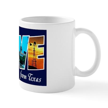 Love from Texas Mug