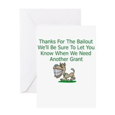 Unique Bailout Greeting Card