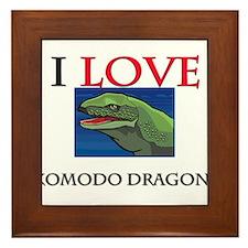 I Love Komodo Dragons Framed Tile