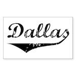 Dallas Rectangle Sticker