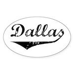 Dallas Oval Sticker